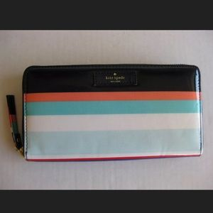 Kate Spade Wallet Clutch Multi Party Stripe NEW